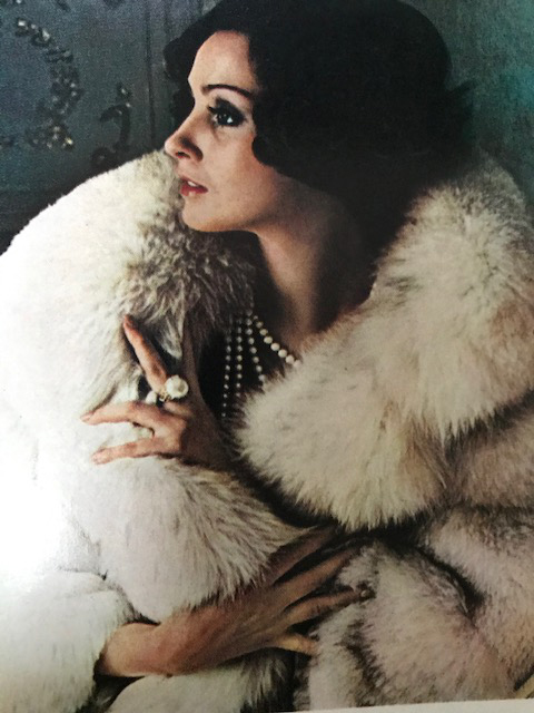 A model epitomising the era's glamourisation of fur